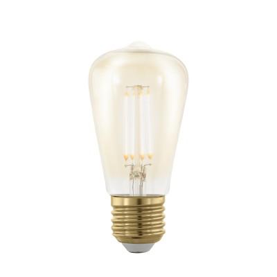 EGLO ИС 11695 Лампа светодиодная филаментная диммируемая ST48, 4W (E27), 1700K, 320lm, золотаяСтандартный вид<br><br><br>Цветовая t, К: 1700<br>Тип лампы: LED<br>Тип цоколя: E27<br>MAX мощность ламп, Вт: 4<br>Диаметр, мм мм: 48<br>Высота, мм: 102