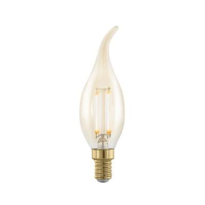 EGLO ИС 11699 Лампа светодиодная филаментная диммируемая Свеча на ветру, 4W (E14), 1700K, 320lm,Лампы светодиодные LED в виде свечи для хрустальных люстр<br><br><br>Цветовая t, К: WW - теплый белый 2700-3000 К (1700)<br>Тип лампы: LED<br>Тип цоколя: E14<br>Диаметр, мм мм: 35<br>Высота, мм: 118<br>MAX мощность ламп, Вт: 4