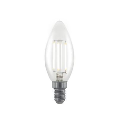 EGLO ИС 11704 Лампа светодиодная филаментная диммируемая Свеча, 3,5W (E14), 2700K, 350lm, прозрачВ виде свечи<br><br><br>Цветовая t, К: 2700<br>Тип лампы: LED<br>Тип цоколя: E14<br>MAX мощность ламп, Вт: 3.5<br>Диаметр, мм мм: 35<br>Высота, мм: 98