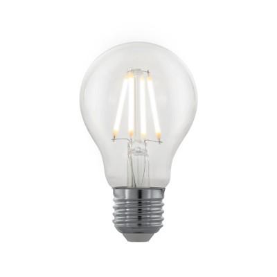 EGLO ИС 11705 Лампа светодиодная филаментная диммируемая Северное сияние A60, 4W (E27), 2200K, 39Стандартный вид<br><br><br>Цветовая t, К: 2200<br>Тип лампы: LED<br>Тип цоколя: E27<br>Диаметр, мм мм: 60<br>Высота, мм: 102<br>MAX мощность ламп, Вт: 4