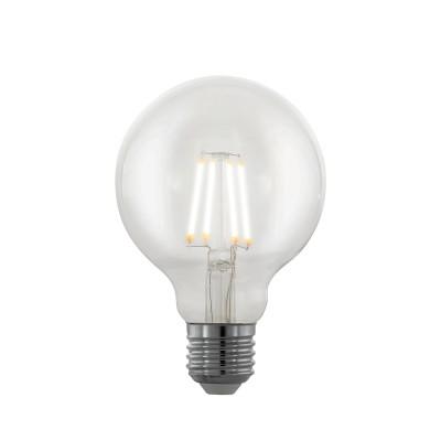 EGLO ИС 11706 Лампа светодиодная филаментная диммируемая Северное сияние G80, 4W (E27), 2200K, 39Стандартный вид<br><br><br>Цветовая t, К: 2200<br>Тип лампы: LED<br>Тип цоколя: E27<br>Диаметр, мм мм: 80<br>Высота, мм: 120<br>MAX мощность ламп, Вт: 4