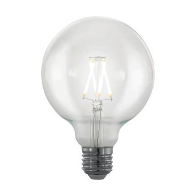 EGLO ИС 11707 Лампа светодиодная филаментная диммируемая Северное сияние G95, 4W (E27), 2200K, 39Стандартный вид<br><br><br>Цветовая t, К: 2200<br>Тип лампы: LED<br>Тип цоколя: E27<br>MAX мощность ламп, Вт: 4<br>Диаметр, мм мм: 95<br>Высота, мм: 135