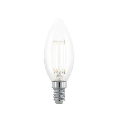 EGLO ИС 11708 Лампа светодиодная филаментная диммируемая Северное сияние apos;Свеча, 3,5W (E14), 220В виде свечи<br><br><br>Цветовая t, К: 2200<br>Тип лампы: LED<br>Тип цоколя: E14<br>MAX мощность ламп, Вт: 3.5<br>Диаметр, мм мм: 35<br>Высота, мм: 97