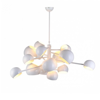 1181/131/15C Colosseo LUX Люстра на штанге MolecolaПодвесные<br>Диаметр: 131 см<br>Материал: Металл<br>Тип ламп: E14<br>Количество: 15<br><br>Установка на натяжной потолок: Да<br>S освещ. до, м2: 30<br>Крепление: Планка<br>Тип лампы: Накаливания / энергосбережения / светодиодная<br>Тип цоколя: E14<br>Количество ламп: 15<br>MAX мощность ламп, Вт: 40<br>Диаметр, мм мм: 1310<br>Цвет арматуры: белый