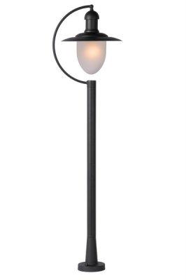 Столб Lucide 11873/01/30 ARUBAБольшие фонари<br>Обеспечение качественного уличного освещения – важная задача для владельцев коттеджей. Компания «Светодом» предлагает современные светильники, которые порадуют Вас отличным исполнением. В нашем каталоге представлена продукция известных производителей, пользующихся популярностью благодаря высокому качеству выпускаемых товаров.   Уличный светильник Lucide 11873/01/30 не просто обеспечит качественное освещение, но и станет украшением Вашего участка. Модель выполнена из современных материалов и имеет влагозащитный корпус, благодаря которому ей не страшны осадки.   Купить уличный светильник Lucide 11873/01/30, представленный в нашем каталоге, можно с помощью онлайн-формы для заказа. Чтобы задать имеющиеся вопросы, звоните нам по указанным телефонам.<br><br>Тип лампы: накаливания / энергосбережения / LED-светодиодная<br>Тип цоколя: E27<br>Цвет арматуры: черный<br>Количество ламп: 1<br>Диаметр, мм мм: 130<br>Высота, мм: 1100<br>Оттенок (цвет): белый<br>MAX мощность ламп, Вт: 60