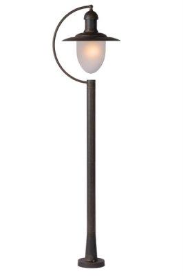 Столб Lucide 11873/01/97 ARUBAБольшие фонари<br>Обеспечение качественного уличного освещения – важная задача для владельцев коттеджей. Компания «Светодом» предлагает современные светильники, которые порадуют Вас отличным исполнением. В нашем каталоге представлена продукция известных производителей, пользующихся популярностью благодаря высокому качеству выпускаемых товаров.   Уличный светильник Lucide 11873/01/97 не просто обеспечит качественное освещение, но и станет украшением Вашего участка. Модель выполнена из современных материалов и имеет влагозащитный корпус, благодаря которому ей не страшны осадки.   Купить уличный светильник Lucide 11873/01/97, представленный в нашем каталоге, можно с помощью онлайн-формы для заказа. Чтобы задать имеющиеся вопросы, звоните нам по указанным телефонам.<br><br>Тип лампы: накаливания / энергосбережения / LED-светодиодная<br>Тип цоколя: E27<br>Цвет арматуры: ржаво-коричневый<br>Количество ламп: 1<br>Диаметр, мм мм: 130<br>Высота, мм: 1100<br>Оттенок (цвет): белый<br>MAX мощность ламп, Вт: 60