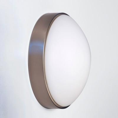 Светильник Lamplandia 12002-23 classicКруглые<br>Настенно-потолочный светильник. Выполнен из металлического основания цвета матовый хром с плафоном из матового стекла.<br><br>S освещ. до, м2: 6<br>Крепление: потолочный / настенный<br>Тип товара: Светильник настенно-потолочный<br>Тип лампы: накаливания / энергосбережения / LED-светодиодная<br>Тип цоколя: E27<br>Количество ламп: 1<br>MAX мощность ламп, Вт: 100<br>Диаметр, мм мм: 230<br>Расстояние от стены, мм: 120<br>Цвет арматуры: серый