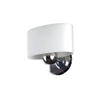 Светильник бра Colosseo 12003/1Современные<br><br><br>S освещ. до, м2: 4<br>Крепление: планка<br>Тип лампы: накаливания / энергосбережения / LED-светодиодная<br>Тип цоколя: E27<br>Количество ламп: 1<br>Ширина, мм: 200<br>MAX мощность ламп, Вт: 60<br>Расстояние от стены, мм: 130<br>Высота, мм: 180<br>Оттенок (цвет): белый<br>Цвет арматуры: серебристый