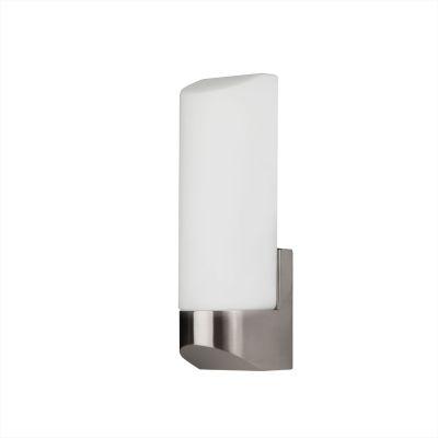 Светильник бра Colosseo 12004/1Для ванной<br><br><br>S освещ. до, м2: 4<br>Крепление: планка<br>Тип лампы: накаливания / энергосбережения / LED-светодиодная<br>Тип цоколя: E27<br>Цвет арматуры: серый<br>Количество ламп: 1<br>Ширина, мм: 75<br>Расстояние от стены, мм: 90<br>Высота, мм: 250<br>Оттенок (цвет): белый<br>MAX мощность ламп, Вт: 60