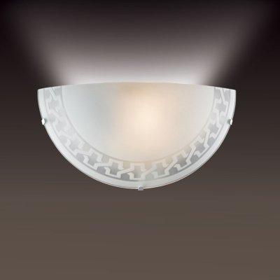 Светильник бра Сонекс 1203/A белый VASSAНакладные<br><br><br>S освещ. до, м2: 4<br>Тип лампы: накаливания / энергосбережения / LED-светодиодная<br>Тип цоколя: E27<br>Цвет арматуры: белый<br>Количество ламп: 1<br>Ширина, мм: 300<br>MAX мощность ламп, Вт: 60