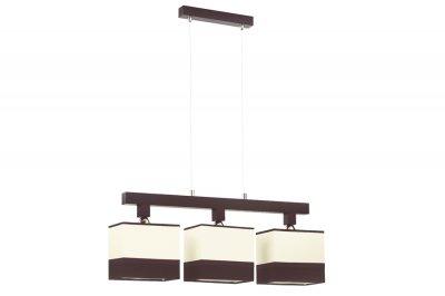 Люстра Lamplandia 12033 AlfaТройные<br>Люстра.Традиционная модель. Выполнена из: основание дерево - венге с металлическими вставками хромированного цвета. Абажур из ткани бежевого цвета. Данная модель прекрасно вписывается в любой классический интерьер.   76 x 13 x 88 3*E14*40Вт<br><br>S освещ. до, м2: 12<br>Крепление: Потолочный<br>Тип лампы: накаливания / энергосбережения / LED-светодиодная<br>Тип цоколя: E27<br>Количество ламп: 3<br>Ширина, мм: 130<br>MAX мощность ламп, Вт: 60<br>Длина, мм: 760<br>Высота, мм: 880