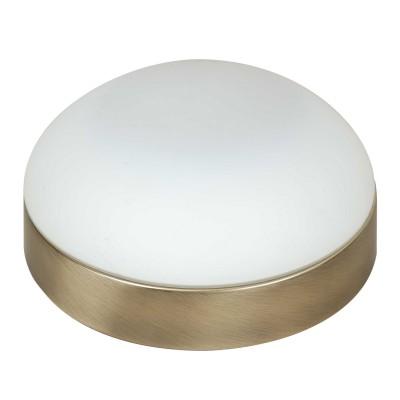 Светильник Lamplandia 12034Круглые<br>Настенно-потолочный светильник. Выполнен из металлического основания цвета бронза с плафоном из матового стекла.<br><br>S освещ. до, м2: 5<br>Крепление: потолочный / настенный<br>Тип лампы: галогенная / LED-светодиодная<br>Тип цоколя: R7s 78mm<br>Количество ламп: 1<br>MAX мощность ламп, Вт: 75<br>Диаметр, мм мм: 180<br>Высота, мм: 80<br>Цвет арматуры: бронзовый
