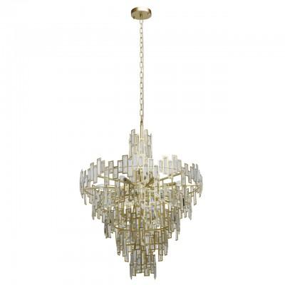 Светильник Regenbogen Life 121010718Подвесные<br><br><br>S освещ. до, м2: 36<br>Тип лампы: накаливания / энергосбережения / LED-светодиодная<br>Тип цоколя: E14<br>Цвет арматуры: золотой<br>Количество ламп: 18<br>Диаметр, мм мм: 800<br>Высота полная, мм: 1860<br>Высота, мм: 1100<br>MAX мощность ламп, Вт: 40