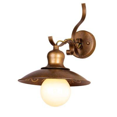 Светильник бра Favourite 1213-1WМорской стиль<br><br><br>S освещ. до, м2: 4<br>Крепление: на крюк<br>Тип лампы: накаливания / энергосбережения / LED-светодиодная<br>Тип цоколя: E27<br>Количество ламп: 1<br>Ширина, мм: 225<br>MAX мощность ламп, Вт: 60<br>Диаметр, мм мм: 305<br>Размеры: W225*H260*305<br>Высота, мм: 260<br>Цвет арматуры: золотой