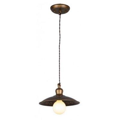 Светильник ретро Favourite 1214-1Pподвесные люстры кантри стиля<br>Подвесной ретро светильник<br><br>Установка на натяжной потолок: Да<br>S освещ. до, м2: 2<br>Крепление: Планка<br>Тип лампы: накаливания / энергосбережения / LED-светодиодная<br>Тип цоколя: E27<br>Цвет арматуры: золотисто-коричневый<br>Количество ламп: 1<br>Диаметр, мм мм: 290<br>Размеры: D290*H140/1000<br>Высота, мм: 140 - 1000<br>MAX мощность ламп, Вт: 60