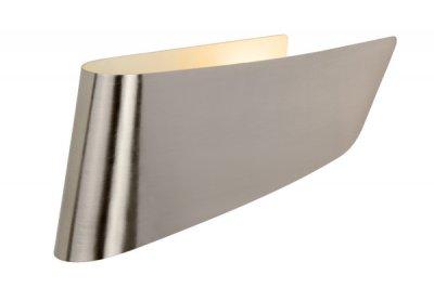 Светильник бра Lucide 12203/01/12 OLAБра хай тек стиля<br><br><br>Тип лампы: накаливания / энергосбережения / LED-светодиодная<br>Тип цоколя: E14<br>Цвет арматуры: серебристый<br>Количество ламп: 1<br>Ширина, мм: 80<br>Длина, мм: 310<br>Высота, мм: 150<br>MAX мощность ламп, Вт: 11