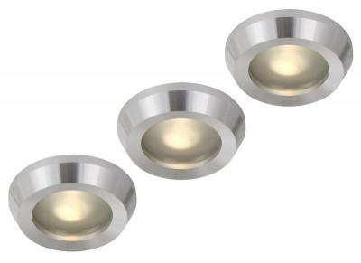 Светильник Globo 12250-3 (3шт)Круглые LED<br>Встраиваемые светильники – популярное осветительное оборудование, которое можно использовать в качестве основного источника или в дополнение к люстре. Они позволяют создать нужную атмосферу атмосферу и привнести в интерьер уют и комфорт. <br> Интернет-магазин «Светодом» предлагает стильный встраиваемый светильник Globo 12250-3. Данная модель достаточно универсальна, поэтому подойдет практически под любой интерьер. Перед покупкой не забудьте ознакомиться с техническими параметрами, чтобы узнать тип цоколя, площадь освещения и другие важные характеристики. <br> Приобрести встраиваемый светильник Globo 12250-3 в нашем онлайн-магазине Вы можете либо с помощью «Корзины», либо по контактным номерам. Мы развозим заказы по Москве, Екатеринбургу и остальным российским городам.<br><br>S освещ. до, м2: 4<br>Тип лампы: галогенная<br>Тип цоколя: GU5.3<br>Количество ламп: 3<br>MAX мощность ламп, Вт: 20W<br>Диаметр, мм мм: 88<br>Высота, мм: 120<br>Цвет арматуры: серебристый