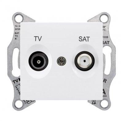 SE Sedna Бел Розетка TV/SAT оконечная 1dB (SDN3401621)Sedna<br><br><br>Тип товара: розетка TV/FM<br>Оттенок (цвет): белый