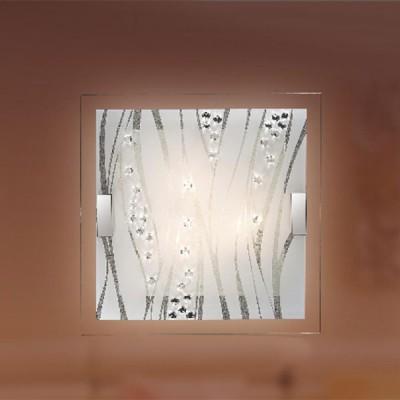 Купить со скидкой Светильник Сонекс 1227 Kadia белый/хрусталь