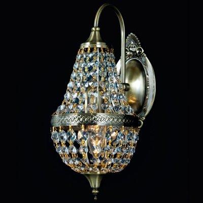 Светильник бра Favourite 1228-1WХрустальные<br><br><br>S освещ. до, м2: 2<br>Тип товара: Светильник настенный бра<br>Скидка, %: 68<br>Тип лампы: накаливания / энергосбережения / LED-светодиодная<br>Тип цоколя: E14<br>Количество ламп: 1<br>Ширина, мм: 210<br>MAX мощность ламп, Вт: 40<br>Диаметр, мм мм: 285<br>Размеры: W210*H320*D285<br>Расстояние от стены, мм: 285<br>Высота, мм: 320<br>Цвет арматуры: бронзовый