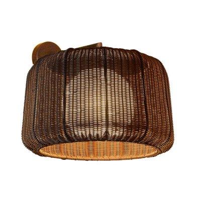 Светильник бра Favourite 1238-1WИз ротанга и eco<br><br><br>S освещ. до, м2: 6<br>Тип лампы: энергосбережения / LED-светодиодная<br>Тип цоколя: E27<br>Количество ламп: 1<br>Ширина, мм: 440<br>MAX мощность ламп, Вт: 25(CFL)<br>Размеры: L400*H320*W440<br>Длина, мм: 400<br>Высота, мм: 320<br>Цвет арматуры: коричневый