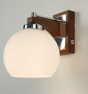 Citilux Ариста CL164311 Светильник настенный браСовременные<br><br><br>S освещ. до, м2: 5<br>Тип лампы: накаливания / энергосбережения / LED-светодиодная<br>Тип цоколя: E27<br>Количество ламп: 1<br>Ширина, мм: 150<br>MAX мощность ламп, Вт: 75<br>Размеры: Высота 19см, Ширина 15см, Глубина 19см, Массив дерева, Выдувное молочнобелое стекло, С выключателемЗапасное стекло<br>Длина, мм: 190<br>Высота, мм: 190<br>Поверхность арматуры: глянцевый, матовый<br>Оттенок (цвет): белый<br>Цвет арматуры: коричневый (темный орех), серебристый хром