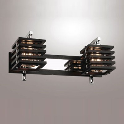 Светильник Odeon Light 1251/2W Ripen хром/венгеСовременные<br><br><br>S освещ. до, м2: 5<br>Тип лампы: галогенная / LED-светодиодная<br>Тип цоколя: G9<br>Количество ламп: 2<br>Ширина, мм: 380<br>MAX мощность ламп, Вт: 40<br>Расстояние от стены, мм: 170<br>Высота, мм: 190<br>Цвет арматуры: серебристый