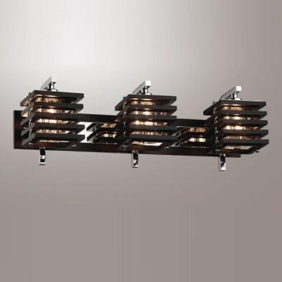 Светильник Odeon Light 1251/3W Ripen хром/венгеСовременные<br><br><br>S освещ. до, м2: 8<br>Тип лампы: галогенная / LED-светодиодная<br>Тип цоколя: G9<br>Количество ламп: 3<br>Ширина, мм: 500<br>MAX мощность ламп, Вт: 40<br>Расстояние от стены, мм: 170<br>Высота, мм: 190<br>Цвет арматуры: серебристый