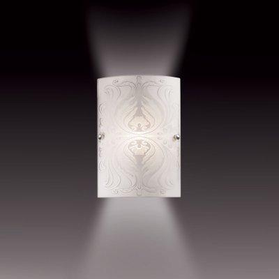 Светильник Сонекс 1255/S белый/хром Kordaнакладные настенные светильники<br><br><br>S освещ. до, м2: 4<br>Тип лампы: накаливания / энергосбережения / LED-светодиодная<br>Тип цоколя: E27<br>Цвет арматуры: серебристый<br>Количество ламп: 1<br>Ширина, мм: 190<br>Высота, мм: 280<br>MAX мощность ламп, Вт: 60