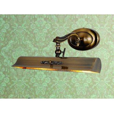 Светильник для картин Favourite 1263-2WДля картин/зеркал<br><br><br>S освещ. до, м2: 3<br>Тип лампы: накаливания / энергосбережения / LED-светодиодная<br>Тип цоколя: E14<br>Количество ламп: 2<br>Ширина, мм: 340<br>MAX мощность ламп, Вт: 25<br>Диаметр, мм мм: 245<br>Размеры: W340*H160*D245<br>Расстояние от стены, мм: 245<br>Высота, мм: 160<br>Цвет арматуры: бронзовый