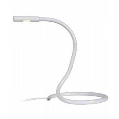 настольная лампа Lucide 12635/23/31 SNAKEснятые с производства светильники<br>Настольная лампа – это не просто источник дополнительного освещения, но и оригинальный элемент декора. Его можно установить в спальне, гостиной, кабинете и других комнатах. Интернет-магазин «Светодом» предлагает настольные лампы разных стилей по доступным ценам. Благодаря большому ассортименту Вы обязательно найдете в нашем каталоге именно ту модель, которую искали.   Настольная лампа Lucide 12635/23/31 – прекрасный вариант для завершения интерьера. Ее можно включить одновременно с люстрой для более яркого освещения или без нее для создания уютной атмосферы, настраивающей на отдых.   Купить настольную лампу Lucide 12635/23/31 Вы можете с помощью виртуальной «Корзины» или по контактным номерам, указанным на сайте.<br><br>Тип лампы: LED - светодиодная<br>Тип цоколя: LED<br>Цвет арматуры: белый<br>Количество ламп: 1<br>Диаметр, мм мм: 200<br>Высота, мм: 350<br>MAX мощность ламп, Вт: 3