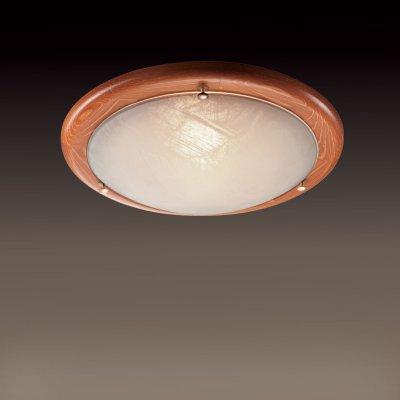 Светильник Сонекс 227 дуб AlabastroКруглые<br>Настенно потолочный светильник Сонекс (Sonex) 227 подходит как для установки в вертикальном положении - на стены, так и для установки в горизонтальном - на потолок. Для установки настенно потолочных светильников на натяжной потолок необходимо использовать светодиодные лампы LED, которые экономнее ламп Ильича (накаливания) в 10 раз, выделяют мало тепла и не дадут расплавиться Вашему потолку.<br><br>S освещ. до, м2: 8<br>Тип лампы: накаливания / энергосбережения / LED-светодиодная<br>Тип цоколя: E27<br>Количество ламп: 2<br>MAX мощность ламп, Вт: 60<br>Диаметр, мм мм: 380<br>Цвет арматуры: деревянный