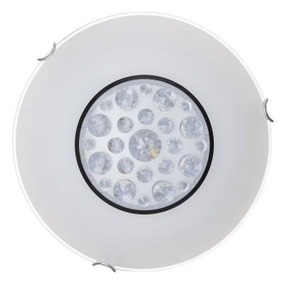Светильник светодиодный Сонекс 128/CL LAKRIMA 28ВтКруглые<br><br><br>S освещ. до, м2: 14<br>Цветовая t, К: 4000<br>Тип лампы: LED - светодиодная<br>Цвет арматуры: серебристый хром<br>Оттенок (цвет): белый<br>MAX мощность ламп, Вт: 28