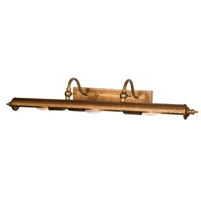 Светильник бра Favourite 1287-3WДля картин<br><br><br>S освещ. до, м2: 8<br>Тип лампы: накаливания / энергосбережения / LED-светодиодная<br>Тип цоколя: E14<br>Цвет арматуры: коричневый<br>Количество ламп: 3<br>Ширина, мм: 680<br>Диаметр, мм мм: 200<br>Размеры: W680*H100*D200<br>Расстояние от стены, мм: 200<br>Высота, мм: 100<br>MAX мощность ламп, Вт: 40