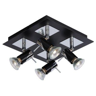 спот Lucide 12910/14/30 BRACKXспоты 4 лампы<br>Светильники-споты – это оригинальные изделия с современным дизайном. Они позволяют не ограничивать свою фантазию при выборе освещения для интерьера. Такие модели обеспечивают достаточно качественный свет. Благодаря компактным размерам Вы можете использовать несколько спотов для одного помещения.  Интернет-магазин «Светодом» предлагает необычный светильник-спот Lucide 12910/14/30 по привлекательной цене. Эта модель станет отличным дополнением к люстре, выполненной в том же стиле. Перед оформлением заказа изучите характеристики изделия.  Купить светильник-спот Lucide 12910/14/30 в нашем онлайн-магазине Вы можете либо с помощью формы на сайте, либо по указанным выше телефонам. Обратите внимание, что у нас склады не только в Москве и Екатеринбурге, но и других городах России.<br><br>S освещ. до, м2: 3<br>Тип лампы: галогенная / LED-светодиодная<br>Тип цоколя: GU10<br>Цвет арматуры: черный<br>Количество ламп: 1<br>Ширина, мм: 230<br>Длина, мм: 230<br>Высота, мм: 130<br>MAX мощность ламп, Вт: 50