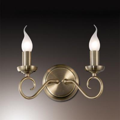 Светильник Odeon Light 1297/2W бронза SandiaРустика<br>Настенный светильник ODEON LIGHT 1297/2W бронза Sandia будет вашим удачным решением при световом оформлении зон интерьера. Выполненный в форме канделябра с горящими свечами, он станет настоящим украшением любой комнаты! Белые матовые плафоны создают мягкий и рассеянный свет, не раздражающий зрение и освещающий именно тот участок интерьера, который Вам необходимо выделить и подчеркнуть.<br><br>S освещ. до, м2: 8<br>Тип лампы: накаливания / энергосбережения / LED-светодиодная<br>Тип цоколя: E14<br>Количество ламп: 2<br>Ширина, мм: 230<br>MAX мощность ламп, Вт: 60<br>Высота, мм: 150<br>Цвет арматуры: бронзовый