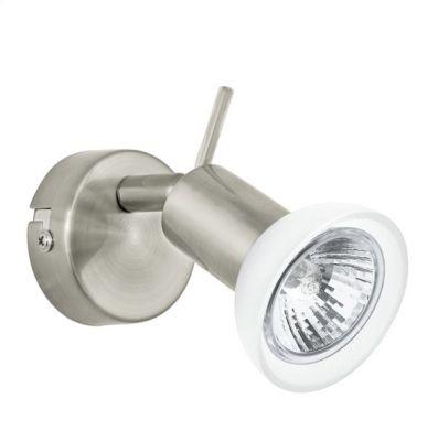 Eglo TOMMASO 92614 Светильник поворотный спотОдиночные<br>Светильники-споты – это оригинальные изделия с современным дизайном. Они позволяют не ограничивать свою фантазию при выборе освещения для интерьера. Такие модели обеспечивают достаточно качественный свет. Благодаря компактным размерам Вы можете использовать несколько спотов для одного помещения.  Интернет-магазин «Светодом» предлагает необычный светильник-спот Eglo 92614 по привлекательной цене. Эта модель станет отличным дополнением к люстре, выполненной в том же стиле. Перед оформлением заказа изучите характеристики изделия.  Купить светильник-спот Eglo 92614 в нашем онлайн-магазине Вы можете либо с помощью формы на сайте, либо по указанным выше телефонам. Обратите внимание, что у нас склады не только в Москве и Екатеринбурге, но и других городах России.<br><br>S освещ. до, м2: 3<br>Крепление: настенное<br>Тип лампы: галогенная / LED-светодиодная<br>Тип цоколя: GU10<br>Количество ламп: 1<br>MAX мощность ламп, Вт: 50<br>Диаметр, мм мм: 60<br>Размеры основания, мм: 0<br>Оттенок (цвет): белый<br>Цвет арматуры: серый<br>Общая мощность, Вт: 1X50W