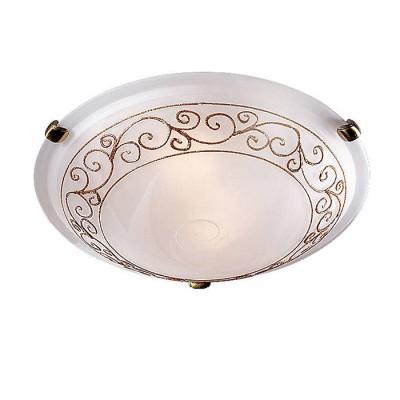Сонекс BAROCCO ORO 131/K настенно-потолочный светильникКруглые<br><br><br>Тип лампы: Накаливания / энергосбережения / светодиодная<br>Тип цоколя: E27<br>Количество ламп: 2<br>MAX мощность ламп, Вт: 60<br>Диаметр, мм мм: 300<br>Высота, мм: 100