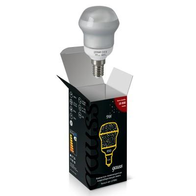 Лампа энергосберегающаяя Gauss 131209Спиральные<br><br><br>Цветовая t, К: CW - холодный белый 4000 К<br>Тип лампы: Энергосберегающая<br>Тип цоколя: E14<br>MAX мощность ламп, Вт: 40<br>Диаметр, мм мм: 50<br>Высота, мм: 92