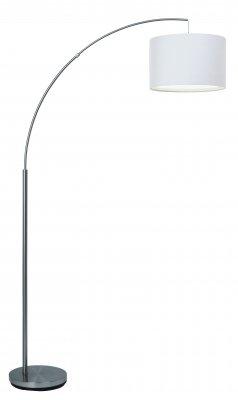 Торшер модерн Brilliant 13258/05 ClairС абажуром<br>Зачастую мы ищем идеальное освещение для своего дома и уделяем этому достаточно много времени. Так, например, если нам нужен светильник с количеством ламп - 1 и цвет плафонов должен быть - белый, а материал плафонов только текстиль! То нам, как вариант, подойдет модель - Торшер Brilliant 13258/05.<br><br>S освещ. до, м2: 4<br>Тип лампы: накаливания / энергосбережения / LED-светодиодная<br>Тип цоколя: E27<br>Количество ламп: 1<br>MAX мощность ламп, Вт: 60<br>Диаметр, мм мм: 370<br>Высота, мм: 1760<br>Цвет арматуры: серебристый