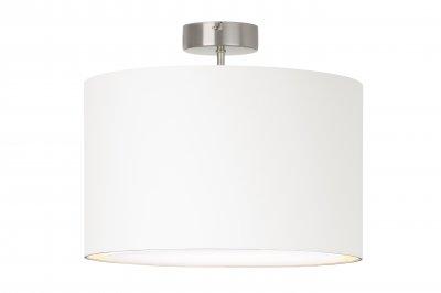 Лампа потолочная Brilliant 13291/05 ClairПотолочные<br>Зачастую мы ищем идеальное освещение для своего дома и уделяем этому достаточно много времени. Так, например, если нам нужен светильник с количеством ламп - 1 и цвет плафонов должен быть - белый, а материал плафонов только текстиль! То нам, как вариант, подойдет модель - лампа потолочная Brilliant 13291/05.<br><br>Установка на натяжной потолок: Да<br>S освещ. до, м2: 4<br>Крепление: Планка<br>Тип лампы: накаливания / энергосбережения / LED-светодиодная<br>Тип цоколя: E27<br>Количество ламп: 1<br>MAX мощность ламп, Вт: 60<br>Диаметр, мм мм: 400<br>Высота, мм: 330<br>Цвет арматуры: серебристый
