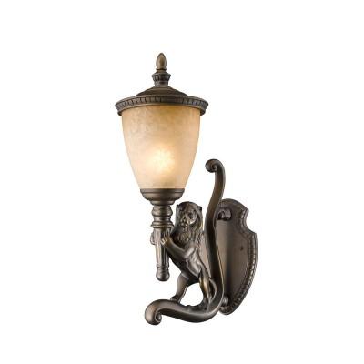 Светильник Favourite 1337-1WLНастенные<br><br><br>Тип товара: Уличный светильник<br>Тип лампы: накаливания / энергосбережения / LED-светодиодная<br>Тип цоколя: E27<br>Количество ламп: 1<br>Ширина, мм: 235<br>MAX мощность ламп, Вт: 60<br>Диаметр, мм мм: 362<br>Размеры: W235*D362*H654<br>Высота, мм: 654<br>Цвет арматуры: коричневый