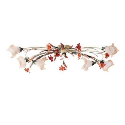 Люстра Mw light 1340506 сторгПотолочные<br>Описание модели 1340506: Нежный флористический декор светильника из коллекции «Восторг» наполнит обстановку комнаты романтикой и летним теплом. Металлическое основание эффектно смотрится в сочетании с растительным декором, окрашенным вручную. Стеклянные плафоны стилизованы под бутоны красивых цветов с плавным переходом от белого цвета к оранжево-розовому оттенку. Оригинальные формы и изящные линии привнесут в обстановку спальни или гостиной комнаты спокойствие и гармонию. Рекомендуемая площадь освещения порядка 18 кв.м.<br><br>Установка на натяжной потолок: Да<br>S освещ. до, м2: 18<br>Крепление: Планка<br>Тип лампы: накаливания / энергосбережения / LED-светодиодная<br>Тип цоколя: E14<br>Цвет арматуры: бежевый<br>Количество ламп: 6<br>Ширина, мм: 450<br>Длина, мм: 900<br>Высота, мм: 450<br>Поверхность арматуры: матовый<br>MAX мощность ламп, Вт: 60<br>Общая мощность, Вт: 360