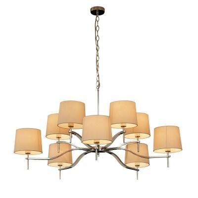 Светильник Divinare 1341/02 LM-10Подвесные<br><br><br>Установка на натяжной потолок: Да<br>S освещ. до, м2: 20<br>Тип цоколя: E14<br>Количество ламп: 10<br>MAX мощность ламп, Вт: 40W