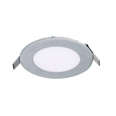 Светильник светодиодный Favourite 1342-6C (6W=60W накал)Круглые LED<br>Встраиваемые светильники – популярное осветительное оборудование, которое можно использовать в качестве основного источника или в дополнение к люстре. Они позволяют создать нужную атмосферу атмосферу и привнести в интерьер уют и комфорт.   Интернет-магазин «Светодом» предлагает стильный встраиваемый светильник Favourite 1342-6C. Данная модель достаточно универсальна, поэтому подойдет практически под любой интерьер. Перед покупкой не забудьте ознакомиться с техническими параметрами, чтобы узнать тип цоколя, площадь освещения и другие важные характеристики.   Приобрести встраиваемый светильник Favourite 1342-6C в нашем онлайн-магазине Вы можете либо с помощью «Корзины», либо по контактным номерам. Мы развозим заказы по Москве, Екатеринбургу и остальным российским городам.<br><br>Крепление: пружина<br>Цветовая t, К: 4200<br>Тип лампы: Led - Светодиодные<br>Тип цоколя: LED<br>Количество ламп: 1<br>MAX мощность ламп, Вт: 6<br>Диаметр, мм мм: 110<br>Размеры: D110*H14<br>Высота, мм: 14<br>Цвет арматуры: серебристый