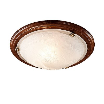 Сонекс LUFE WOOD 136/K настенно-потолочный светильникКруглые<br><br><br>Тип лампы: Накаливания / энергосбережения / светодиодная<br>Тип цоколя: E27<br>Количество ламп: 2<br>MAX мощность ламп, Вт: 60<br>Диаметр, мм мм: 360<br>Высота, мм: 90