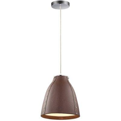Светильник Favourite 1366-1pОдиночные<br><br><br>Крепление: планка<br>Тип товара: Светильник подвесной<br>Тип лампы: накаливания / энергосбережения / LED-светодиодная<br>Тип цоколя: E27<br>Количество ламп: 1<br>MAX мощность ламп, Вт: 60<br>Диаметр, мм мм: 260<br>Размеры: D260*H300/1850<br>Высота, мм: 300 - 1850<br>Цвет арматуры: коричневый