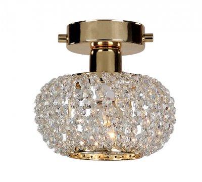 Светильник Favourite 1390-1UХрустальные<br><br><br>S освещ. до, м2: 2<br>Крепление: планка<br>Тип лампы: накаливания / энергосбережения / LED-светодиодная<br>Тип цоколя: E14<br>Количество ламп: 1<br>MAX мощность ламп, Вт: 40<br>Диаметр, мм мм: 140<br>Размеры: D140*H120<br>Высота, мм: 120<br>Цвет арматуры: золотой