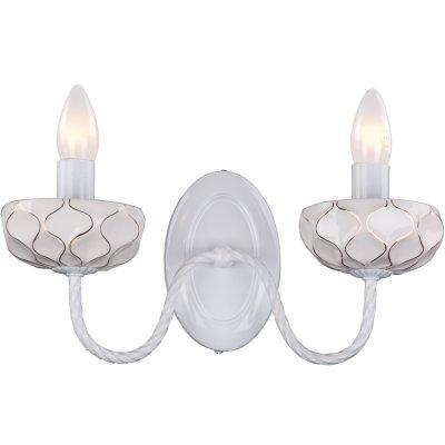 Светильник Favourite 1395-2wМодерн<br><br><br>S освещ. до, м2: 8<br>Тип лампы: накаливания / энергосбережения / LED-светодиодная<br>Тип цоколя: E14<br>Количество ламп: 2<br>Ширина, мм: 350<br>MAX мощность ламп, Вт: 60<br>Диаметр, мм мм: 160<br>Размеры: W350*H170*D160<br>Высота, мм: 170<br>Цвет арматуры: белый
