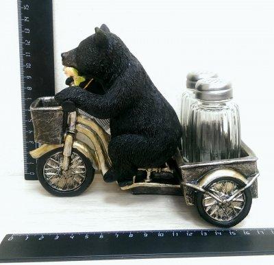 BS05568 Солонка Медведь с тележкойПодарки и сувениры<br><br>